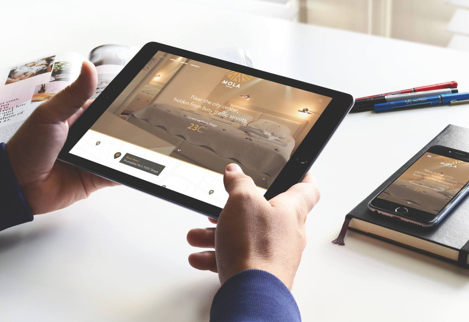 Mola Hotel Tablet Mobile View